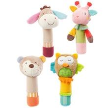 Baby Toys Newborn Rattle Animals Plush Dolls Owl Deer Donkey Hand Bell  Cartoon Cotton