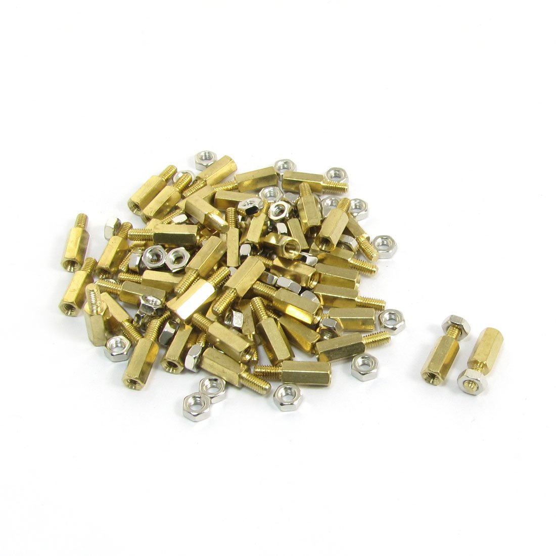 Clos 10mm Body Long M3x6mm Male Female Brass Pillar