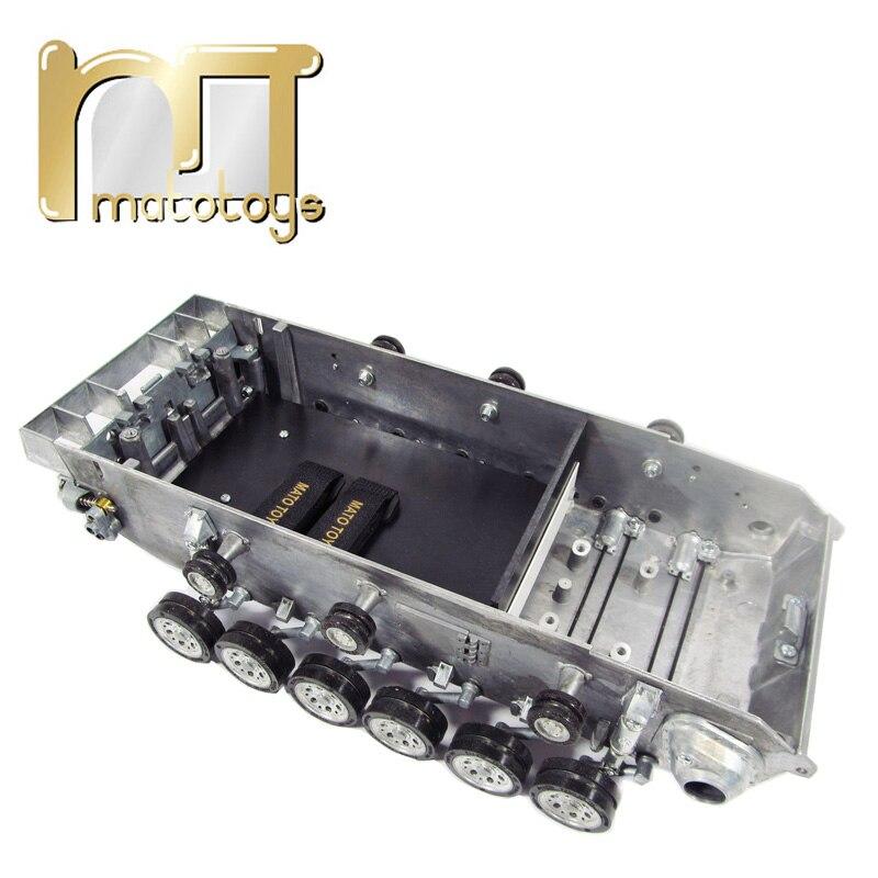 Kit de châssis de réservoir robot en métal Mato avec suspension à barre de torsion et roues de route pour réservoir 1:16 rc Panzer III Stug III