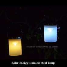 24pcs Outdoor Solar stainless steel hanging lights waterproof Intelligent light control campin/patio nightlights
