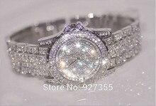 Hot Sales!Luxury Crystal Women Bracelet! Female Diamond Dress Watch Ladies Fashion Sparkling Shining Rhinestone Wristwatches B26