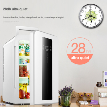 22L CNC dual-core car / home refrigerator mini refrigerator with single door student dormitory small fridge DC12v / AC220V 1PC