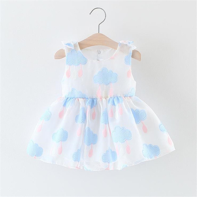 77ac46734 2018 summer dress for infant dress cotton Colorful clouds Kids clothes  newborn Girls baby clothing girls