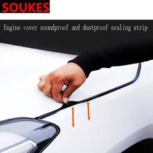 Rubber Car Head Hood Edge Sound Seal Strip Sticker For Volvo S60 XC90 V40 V70 V50 V60 S40 S80 XC60 XC70 Nissan Qashqai X-TRAIL недорого