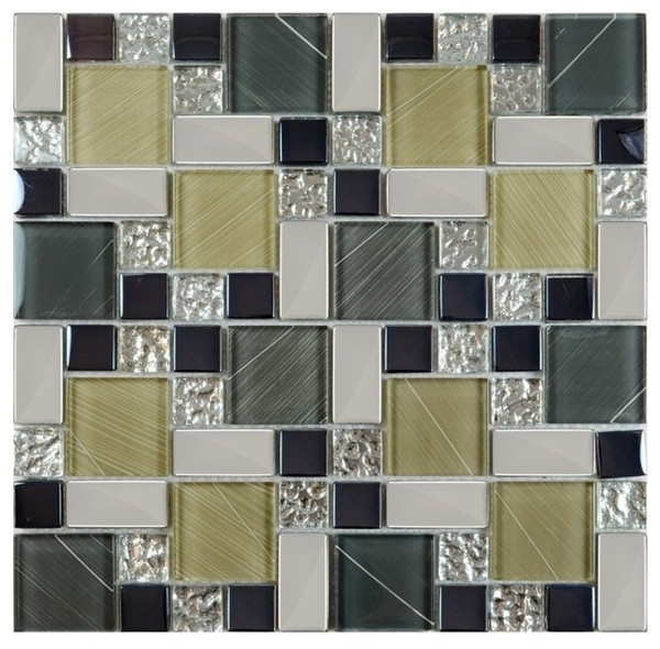 5/16 Zoll Dicke Magische Muster Glas Küche Backsplash Mosaikfliese Akzent  Fliese Cob0119 4x4 Zoll