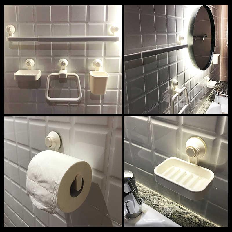 Ssania mydelniczka prysznic ssania kubek mydelniczka akcesoria łazienkowe blat kuchenny zlew wanna Bar mydło gąbka uchwyt biały