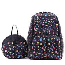 2017 новый красочные dot печати черный нейлоновый рюкзак женщины мода многофункциональный мумия сумки большой емкости путешествия рюкзаки 4 цвета
