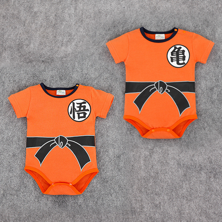 Summer newborn baby   rompers   shorts clothes SON GOKU children's jumpsuit Dragon Ball baby boy girl clothes