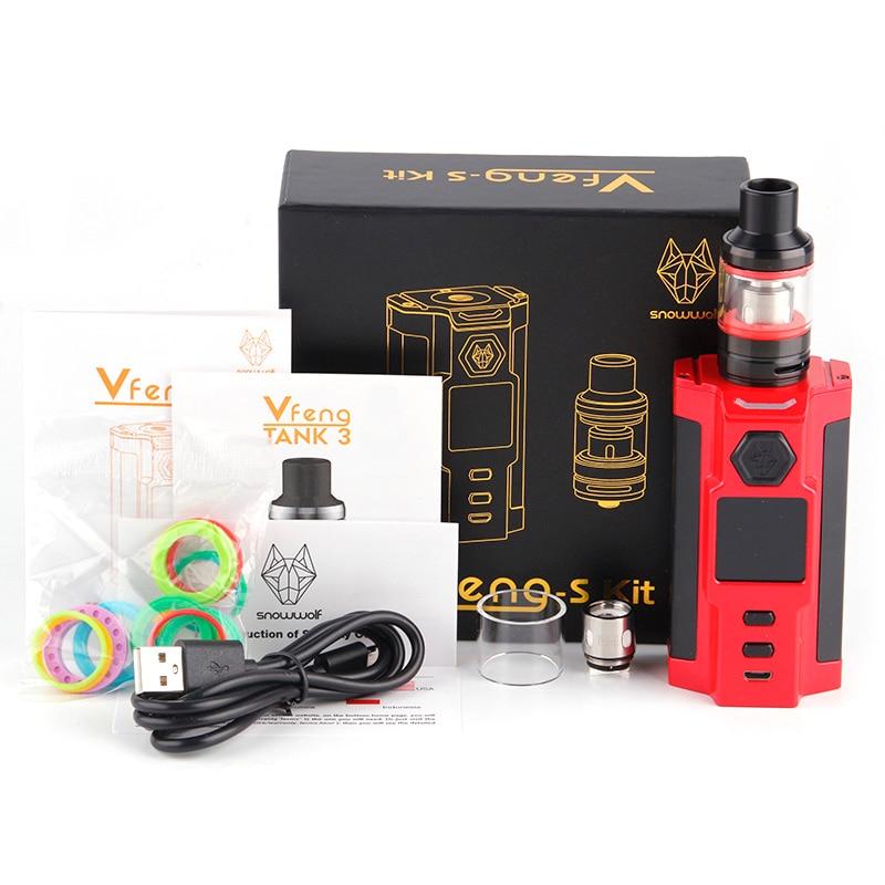 Sigelei Snowwolf Vfeng S поле Mod Kit 230 Вт Mod Elecctronic сигареты комплект 2,8 мл бак цинковый сплав + пластик Vape Mod Наборы - 3