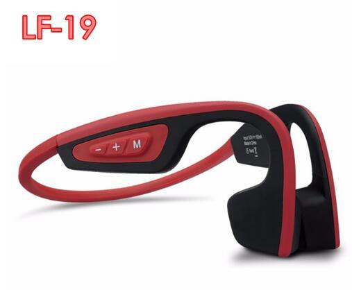 S. Porter LF-19 Os Sans Fil Bluetooth Stéréo Casques BT 4.1 Étanche courroie de Cou écouteurs à Conduction Osseuse Casques Mains-livraison