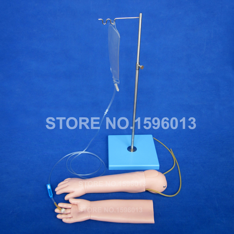 Advanced Child Venipuncture Arm Simulator,Pediatric IV Arm,Injection Training Model with Replaceable Skin economic injectable training arm model with infusion stand iv arm injection teaching model