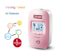 901 Pink Mini Air Purifier Portable Negative Ion Generator, Air pollution detection automatic alarm LED display air cleaner