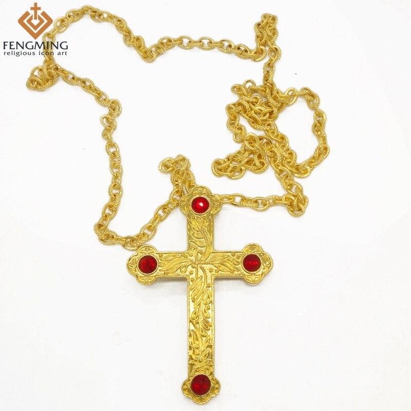 18 Karat Gold/silber Überzogene Kreuz Anhänger Orthodoxe Kirche Hohe Qualität Mode Hiphop Franco Halsketten Gold Kette Für Männer Schmuck 2019 Offiziell