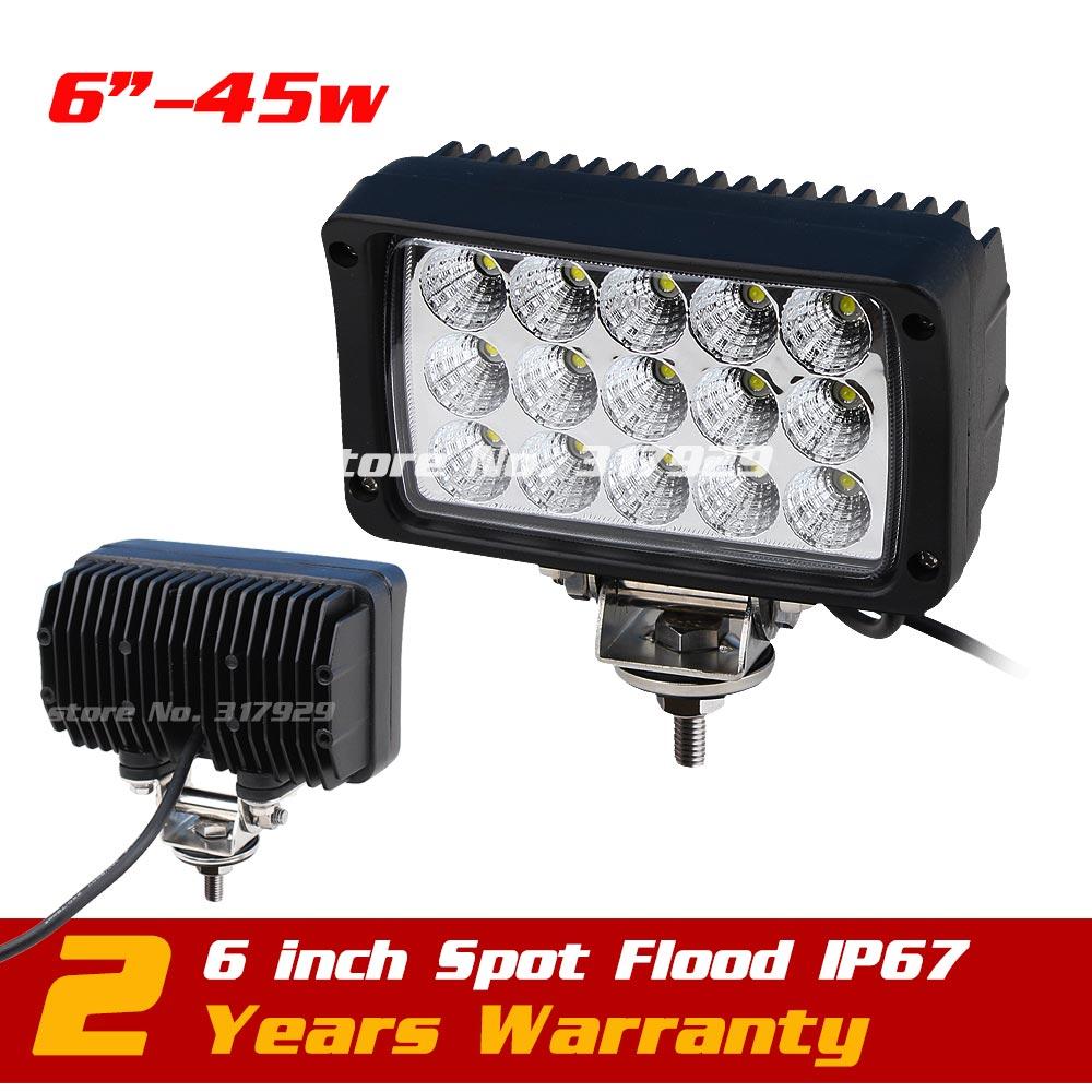 ФОТО 6'' 45W LED Work Light Flood Spot Offroad Light 10-30V Offroad Lamp TRUCK ATV SUV IP67 LED Drive Light External Light Skill 60w