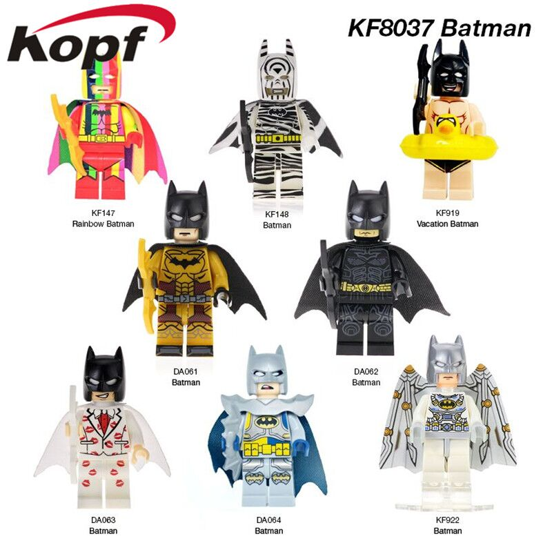 Single Sale Super Heroes Batman Black Panther Series Bricks Education Building Blocks Figures Gift Toy Model For Children KF8037