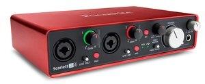Image 3 - الأصلي FOCUSRITE سكارليت 2i4 II 2nd جيل USB جهاز التحكم في الصوت كارت الصوت المهنية لتسجيل 2 في/4 خارج