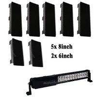 52 Snap On Dust Proof Protective Black Covers 5pcs 8 2pcs 6 For 54 Led Light