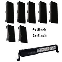 52 Snap On Dust Proof Protective Black Covers 5pcs 8 2pcs 6 For 54 Led Light