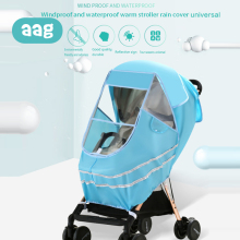 AAG Waterproof Baby Stroller Rain Cover EVA Universal Wind Dust Shield Raincoat Window Newborn Strollers Warm Covers Accessories