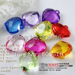 22mm 150pcs mixed color heart acrylic beads plastic pendants 22mm 150pcs mixed color heart acrylic beads plastic pendants jewelry accessories findings mozeypictures Choice Image