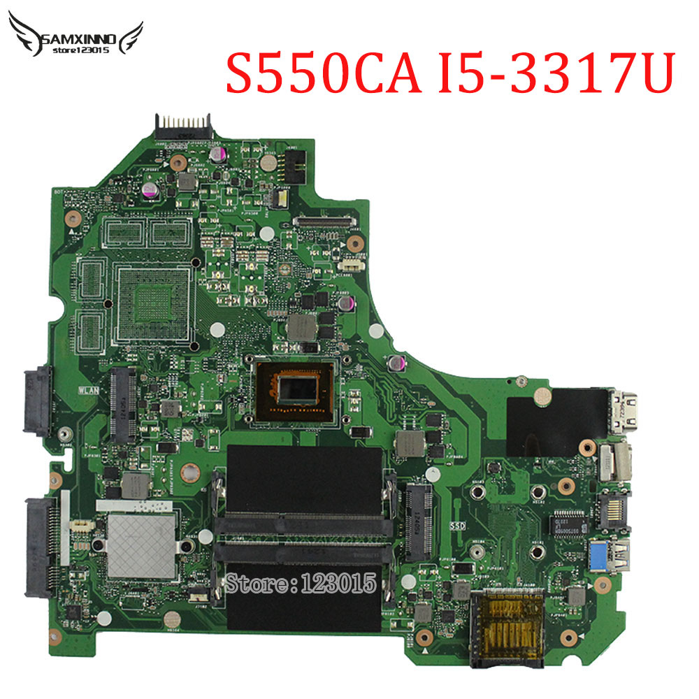 For ASUS VivoBook S550CA Laptop Motherboard K56CM rev 2.0 with i5-3317u cpu GM Integrated HD Graphics 4000 Main board tested asus g31m s support ddr2 775 pin integrated small board g31m g31 motherboard