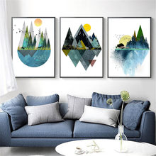 Canvas Wall Art Print Painting Abstract Landscape Picture for Living Room Home Decor Watercolor Scenery Poster Unframed(China)