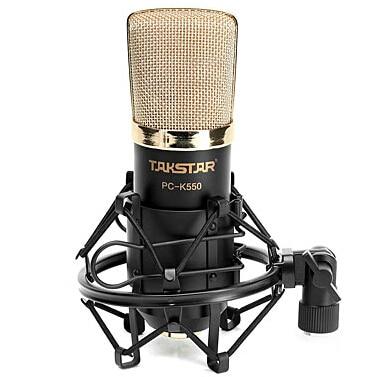 Takstar PC-K550 Side-address Microfono di registrazione Professionale uso per Internet karaoke, registrazione PC, elaborazione audio ect.Takstar PC-K550 Side-address Microfono di registrazione Professionale uso per Internet karaoke, registrazione PC, elaborazione audio ect.