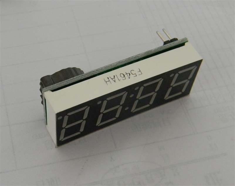 Цифровая труба электронные часы СКМ двойная функция электронные часы 4 бит 0.56 DS1302 часы (D6A4)
