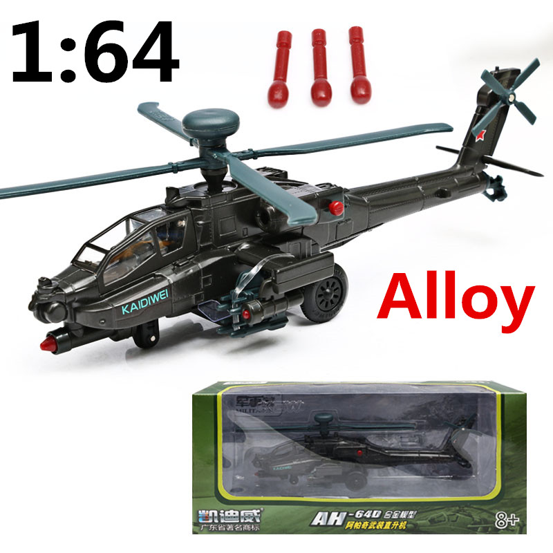 Hot sale 1:64 Alloy flashing airplane,Apache Combat helicopter,Metal plane model,Collect toys,free shipping