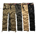 2017 Hot Selling mens pants cargo brand 4 color fashion cargo pants men size 30-40 military outsider trousers wholesale