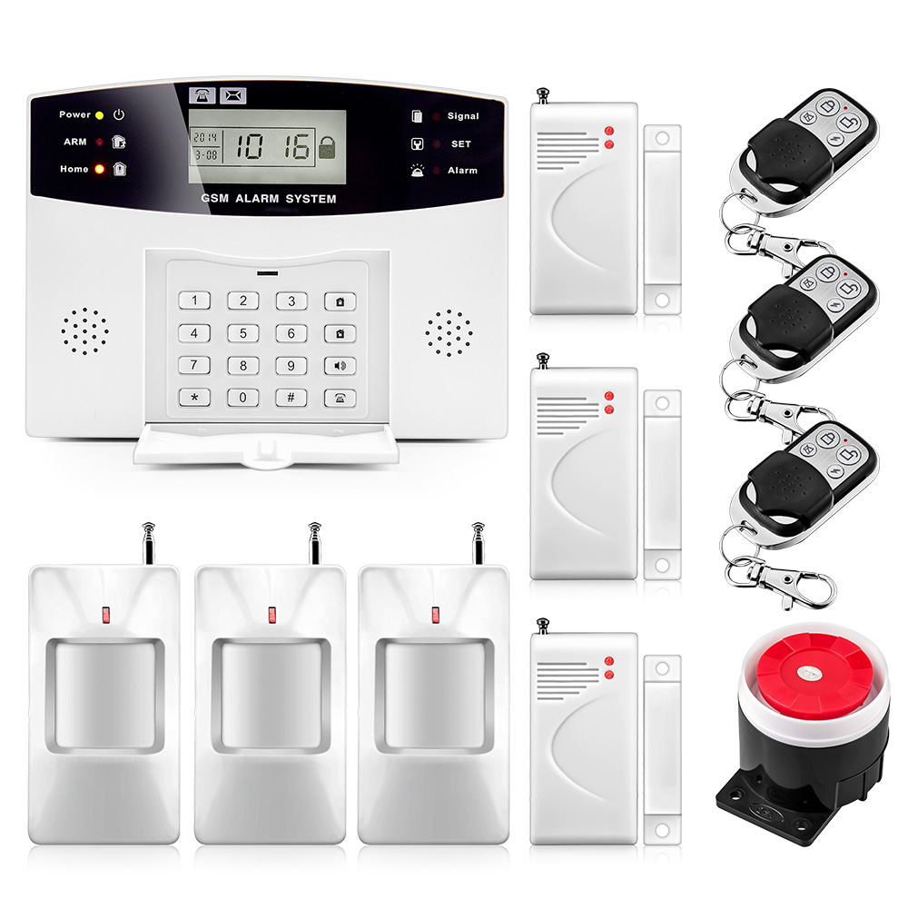 2019 New Lcd Display Keypad Wireless Gsm Alarm System 433mhz Home Security Alarm System With Pir Motion Door Open Sensor