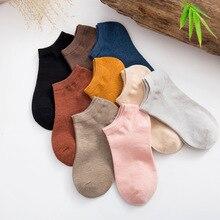 10 çift Sevimli 3D Şeker renk Çorap Unisex Kadın Erkek çocuklar bambu elyaf Çorap Kadın Moda Rahat Kısa Çorap Sanat çorap Düşük Ayak Bileği