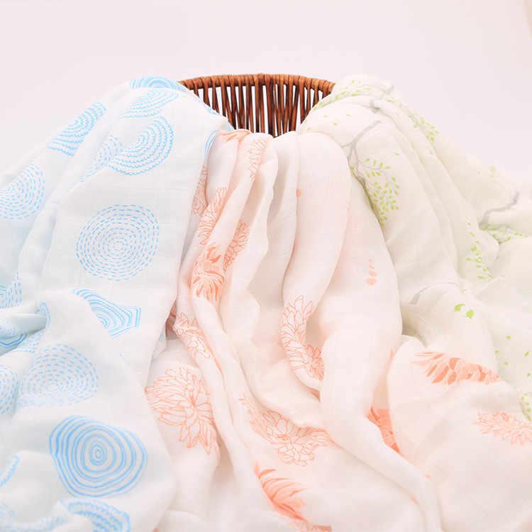 Bebé muselina de bambú Swaddle manta individual 100% bambú Swaddle grande bebé Swaddle para la comodidad del bebé de calidad sueño muselina Swaddling