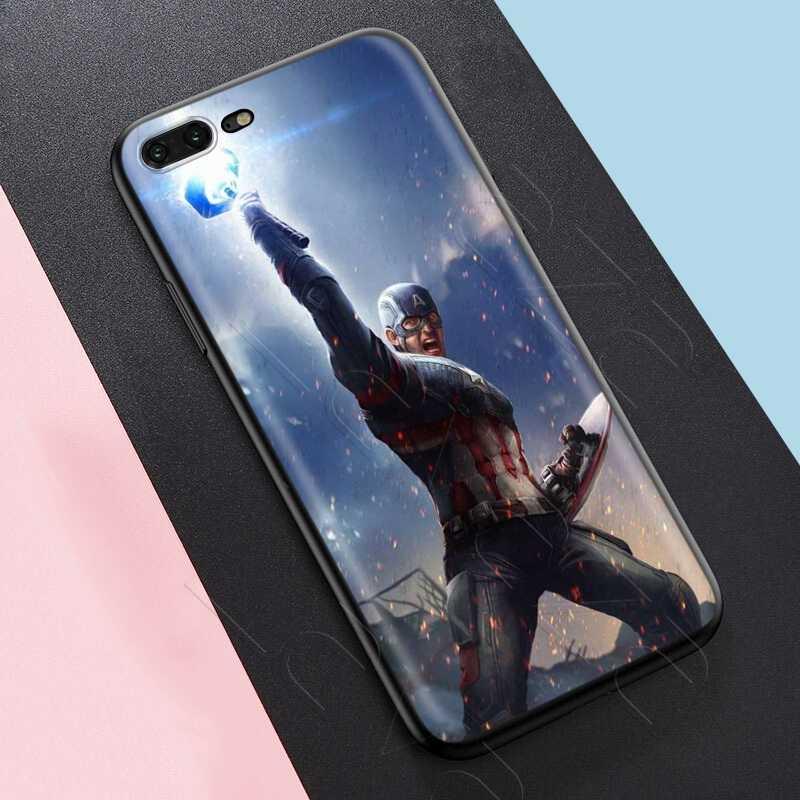 Lavaza Marvel örümcek adam kaptan amerika kılıfı iPhone 11 Pro XS Max XR X 8 7 6 6S artı 5 5s se
