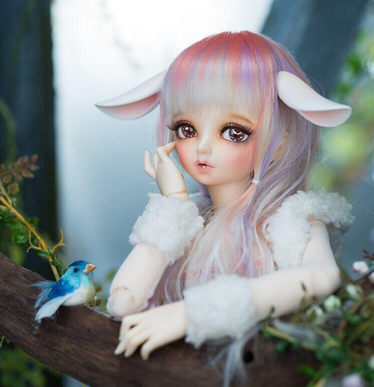 OUENEIFS Rin Minifee Fairyland Bjd Sd 14 Body Model Reborn Baby Girls Boys Dolls Eyes High