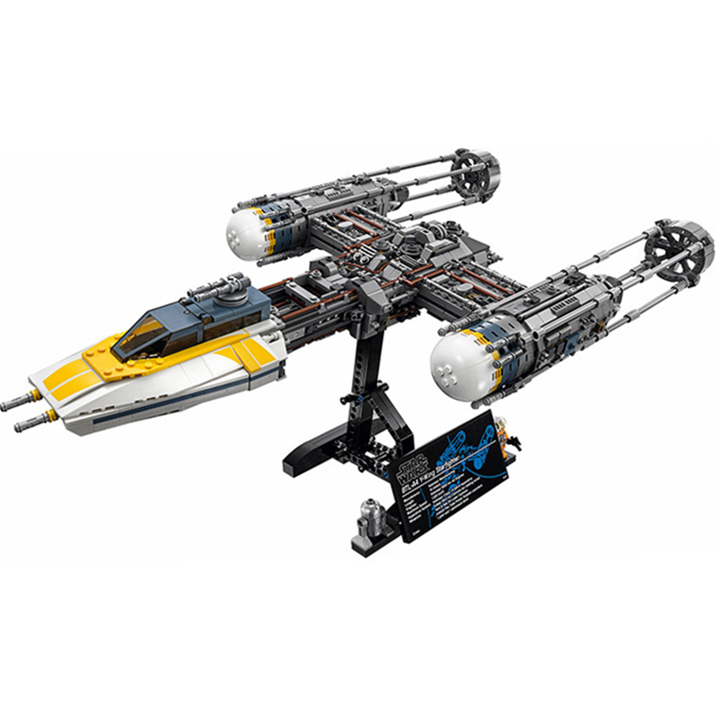 Star Wars Y-wing Fighter STARWARS Building Blocks Sets Bricks Classic Model Kids Toys Marvel Compatible Legoings 75181 single sale star wars superhero marvel avengers iceman x men building blocks action sets model bricks toys for children