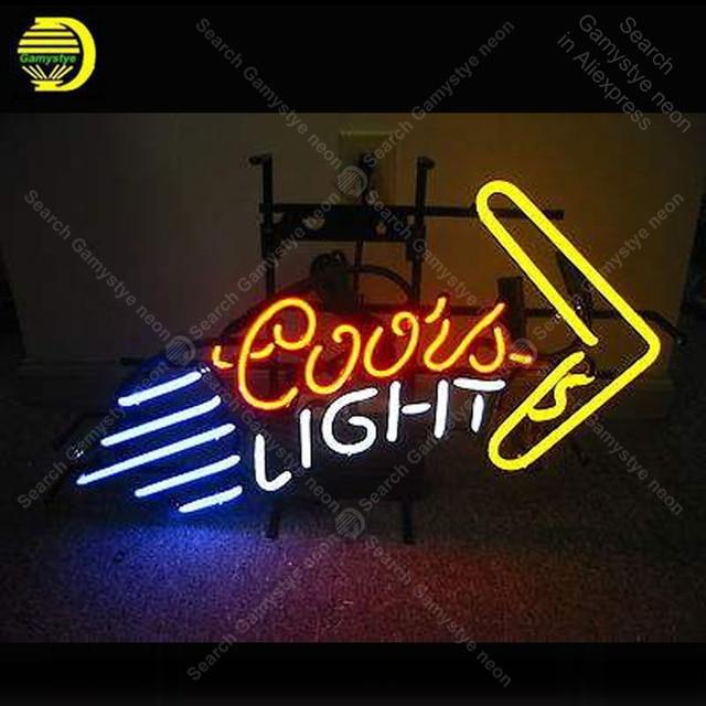 NEON SIGN For coors light boomerang NEON Bulbs Lamp GLASS Tube Decor Club Garage Room Handcraft Advertise anuncio Metal Frame