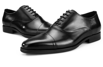 Fashion Black / Brown Mens Formal Business Dress Shoes Genuine Leather Social Shoes Male Wedding Groom Shoes