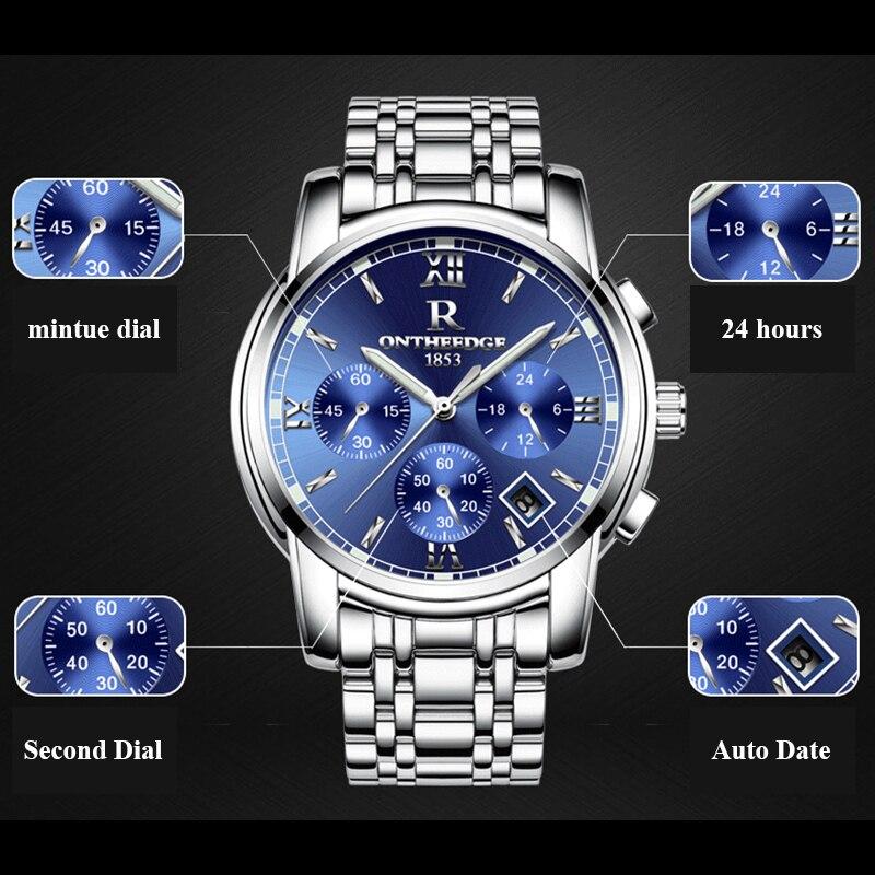 RONTHEEDGE Horloge Heren Horloges Topmerk Luxe Beroemde Polshorloge - Herenhorloges - Foto 3