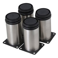 4pcs Stainless Steel Adjustable Round Leg Protector DIY Stand For Chair Cabinet Table Shelf Furniture 50