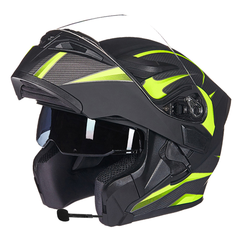 Image 2 - GXT Motorcycle Protective Gears Helmets ECE dot for waterproof bluetooth helmet casque moto Washed Inner Flip Up MOTO helmet-in Helmets from Automobiles & Motorcycles