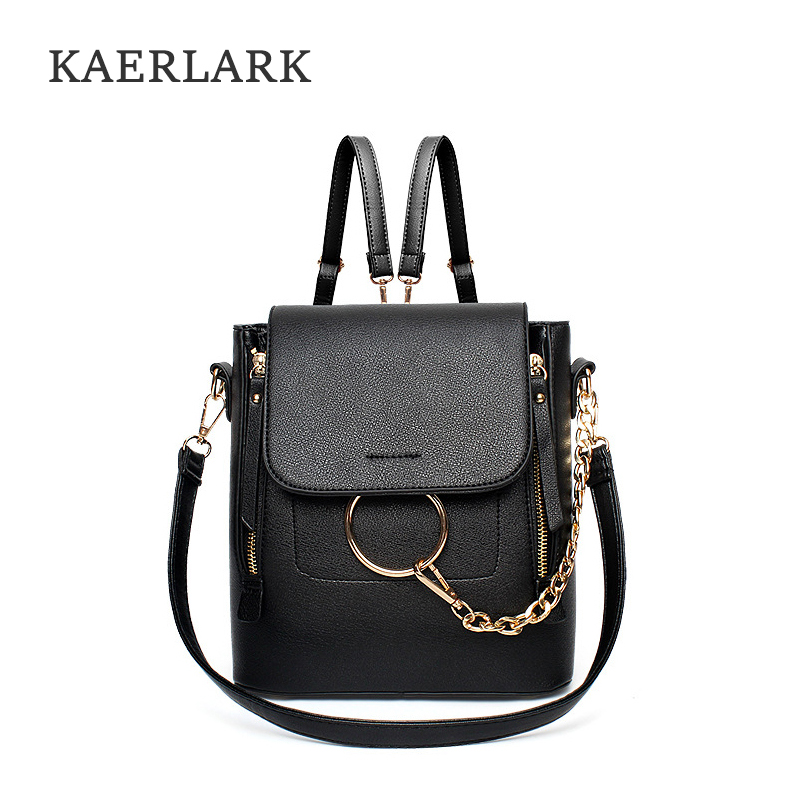 KAERLARK Brand New Women S Backpacks PU Leather Female Backpack Women School Bag For Girls Large