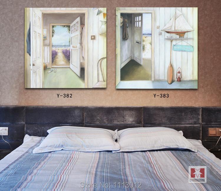 100% ручной росписью комплект из 2 частей Семья украшения картина маслом на холсте современный дом стены картина на стене для Гостиная распро...
