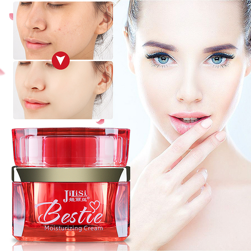 HELIKA RED bottle moisturizing face cream Concealer makeup base whitening hide pores and acne scars hydrating cleansing cutin