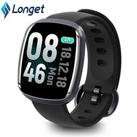 Longet GT103 smart watches watch IP68 Waterproof Heart rate & Blood pressure measure call reminder , message reminde Smartwatch