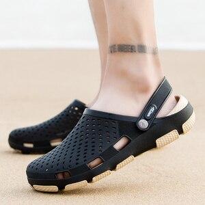 Image 4 - Męskie drewniaki sandały sandały na platformie buty męskie Sandalias letnie buty na plażę Sandalen pantofle Sandalet hombre Sandali nowy 2020