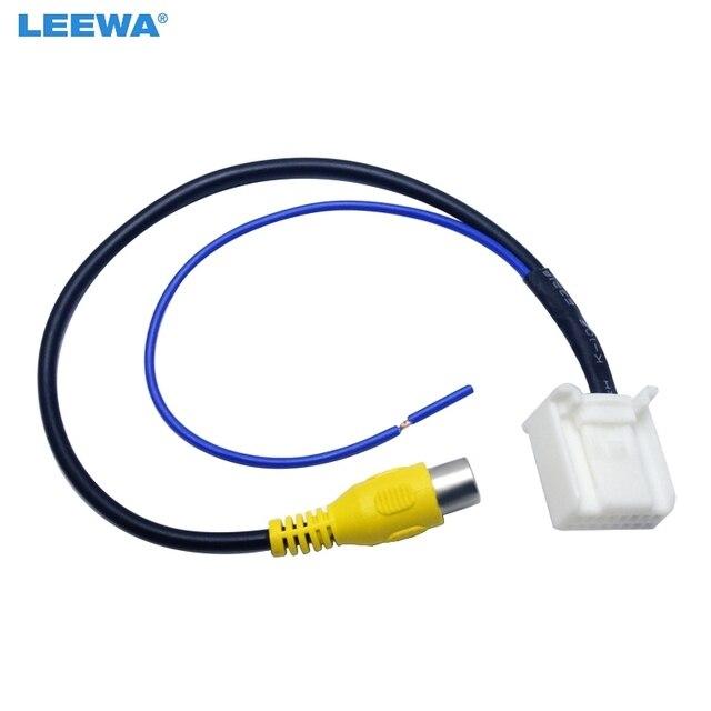 LEEWA Парковка Обратный камера заднего вида Видео разъем конвертер кабель адаптер для Toyota Camry 7th навигации DVD #2593