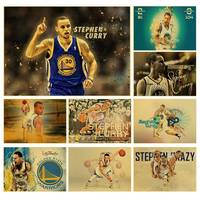 MVP basketball player Stephen Curry Art Poster kraft paper Painting Print Home Decor For Wall