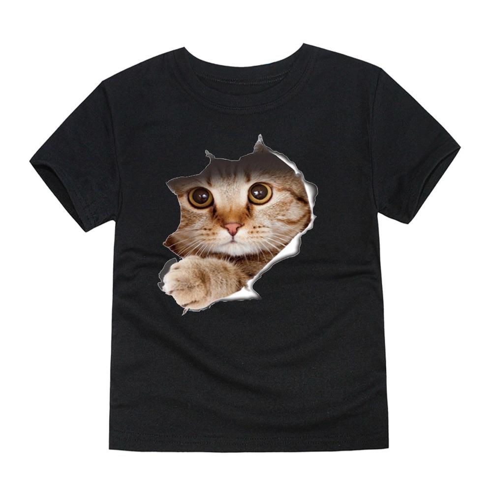 Baby T-Shirt,Fur,Original Cool Wolf UBaby Boy Girl Short Sleeve T-Shirt Tops Casual Outfit Black
