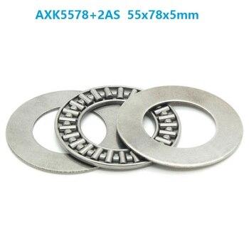 20pcs/lot AXK5578+2AS Plane Thrust Need Roller Bearing 55x78x5mm needle roller cage assemblies 55*78*5mm
